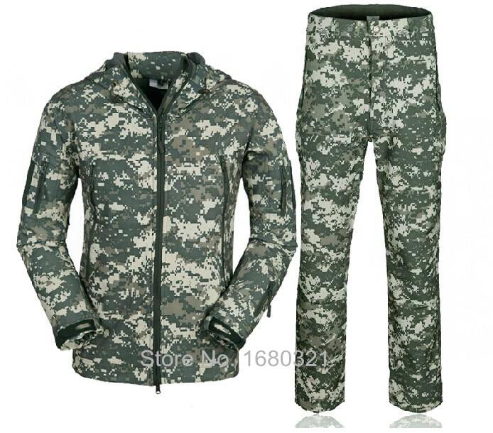 ACU Camo HIgh Quality TAD V 4.0 Men Outdoor Travel Camping Hiking Windproof Coats Jacket Hoody Softshell Jacket+pants Set Suits