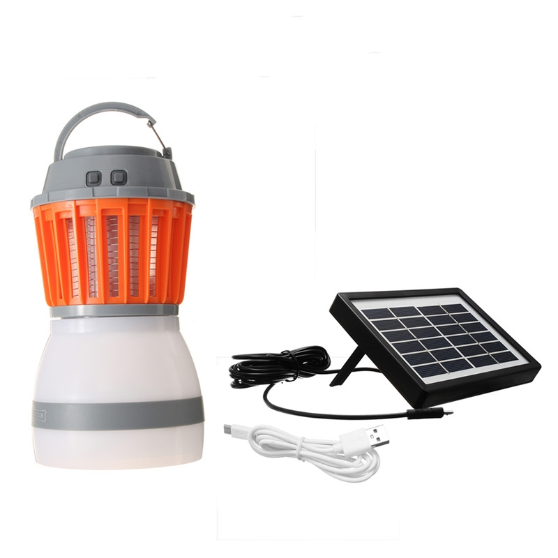 Outdoor Dual Purpose Usb Rechargeable Solar Powered Mosquito Killer Lamp Portable Led Camping Light Decoration Household Garden Lights & Lighting