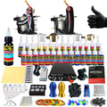 Solong Tattoo Complete Tattoo Kit for Beginner Starter 2 Pro Machine Guns 28 Inks Power Supply Needle Grips Tips TK204-10