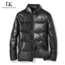 Dusen Klein Men Genuine Leather Down Jackets Winter Warm Coats Sheepskin Leather