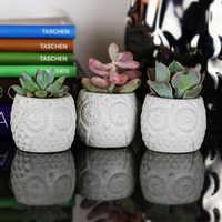 Kreative Eule Design Blumentopf Form Beton silikon form Kerze halter formen