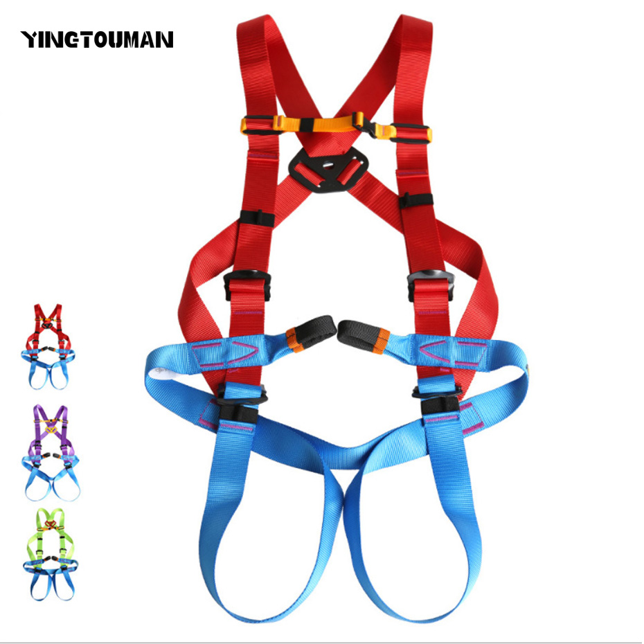YINGTOUMAN Colourful Professional Safety Belt Harnesses Outdoor Rock Climbing Mountaineering Belt afety Belt Climbing Equipment multifunctional professional handle pulley roller gear outdoor rock climbing tyrolean traverse crossing weight carriage fit