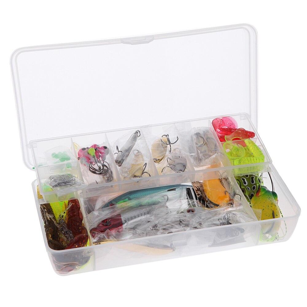 Fishing lure kits hard artificial lures minnow fishing for Fishing tackle kits