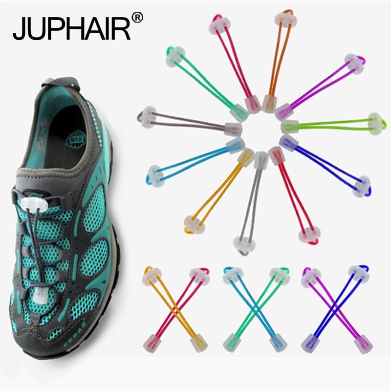 JUP 12 Pairs No Tie Locking Shoelaces ElasticWomen Men Trainer Running Athletic Sneaks Shoes Laces Fit Strap Shoelaces Wholesale