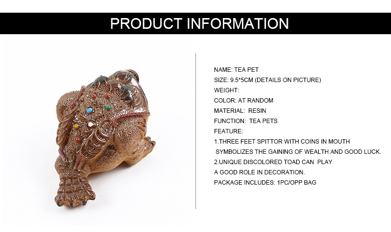 9 5*5cm Ceramic Discolored Toad Tea Pet Rolling money Spittor Tea Favors  Luck Gift Ornaments Retro Chinese Tea Ceremomy Tools-in Tea Pets from Home  &