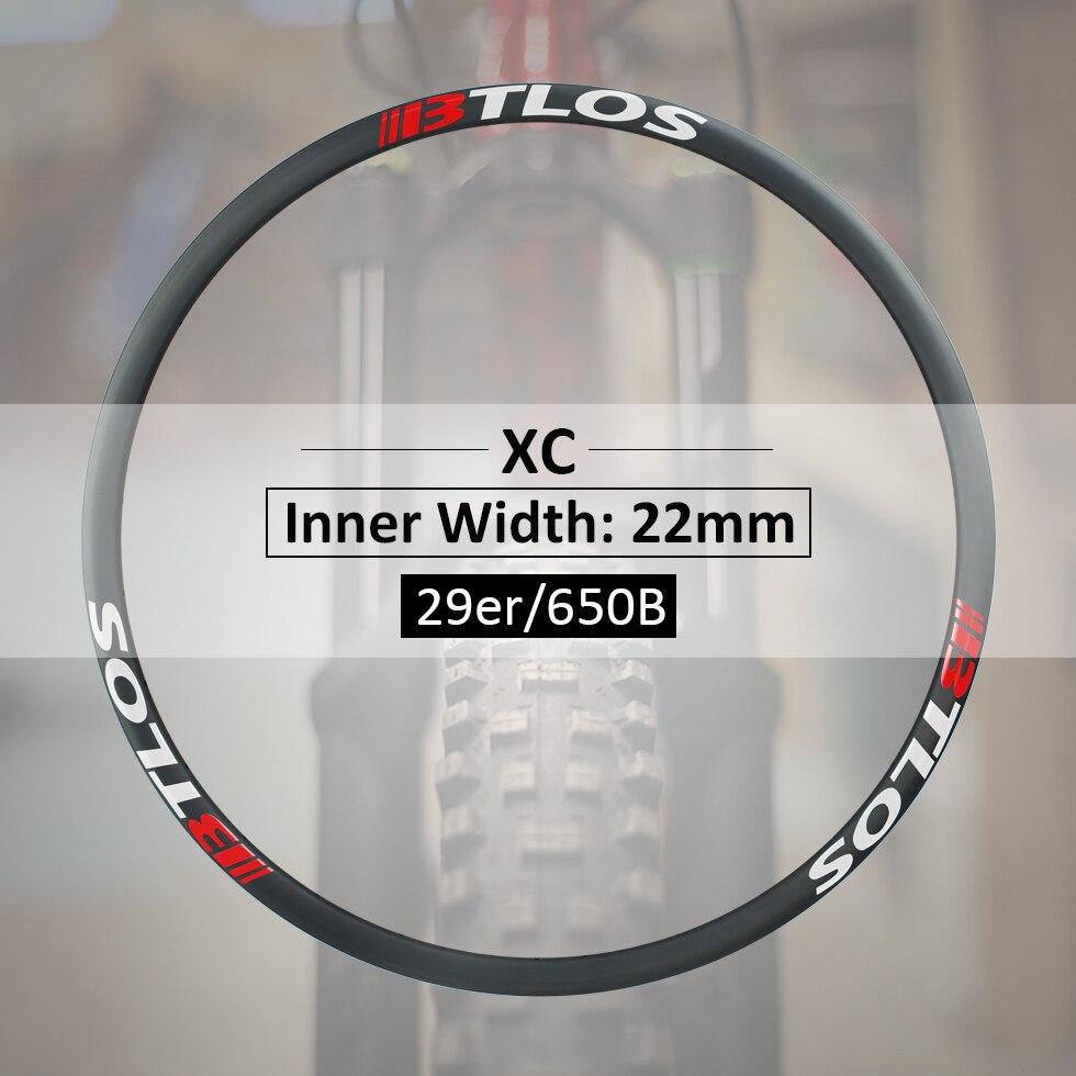 Extralight 280g Cross-country sentier Flyweight jantes carbone et 29 pouces-M-i22L carbone roues roue de vélo