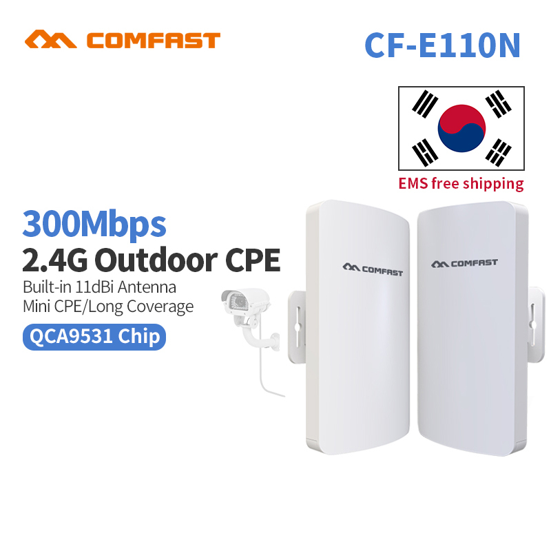 2pc 2KM WISP Long Range Outdoor CPE WIFI Router 2.4GHz Wireless AP WIFI Repeater Access Point WIFI Extender Bridge Client Router