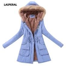 LASPERAL, новинка, женские парки, Женское зимнее пальто, утепленная хлопковая зимняя куртка, модная женская верхняя одежда, парки для женщин, зимняя