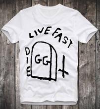 030735907a851 Футболка GG ALLIN в стиле панк-рок, JUNKIES, живи быстро, тату, чернила,  винтажная ретро-футболка, Мужская черная хлопковая футб.