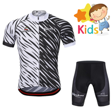 цена на Summer Cycling Clothing for Kids Ropa Ciclismo Breathable Pro Bike Suit Children's Cycling Jersey Set Short Sleeve Cycling Kits