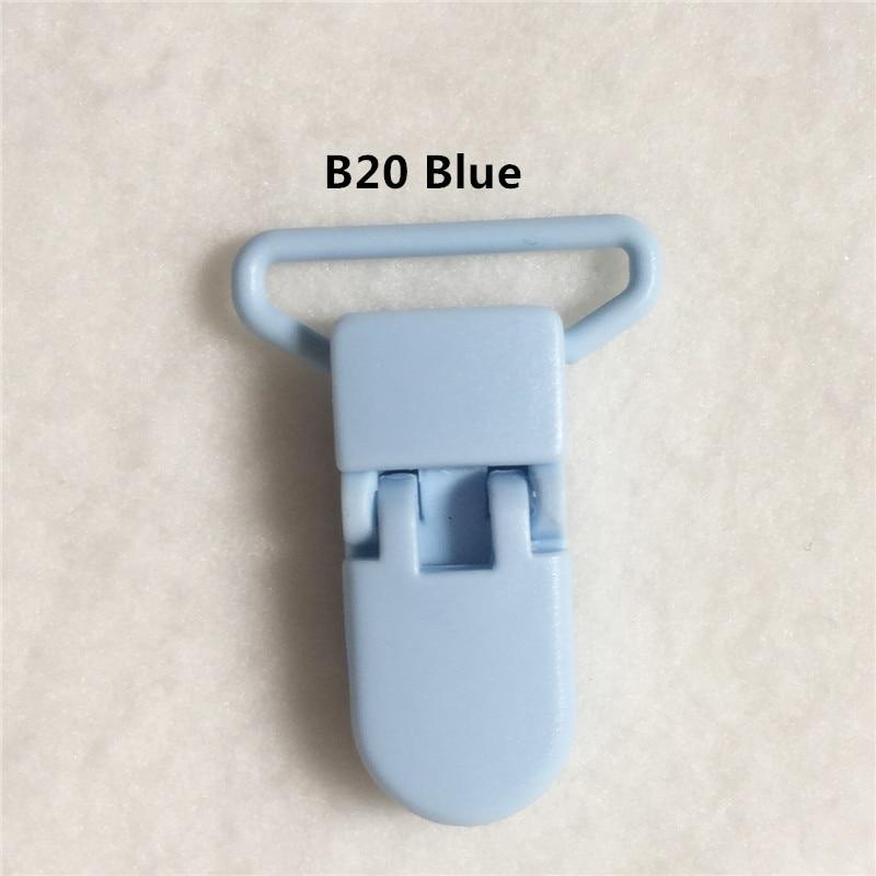 20 цветов смешанный) DHL 300 шт. Горячие формы D 2.5 см 1 ''Пластик маленьких Соски соска пустышка адаптер Chain Зажимы для 25 мм ленты - Цвет: B20