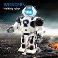 De los niños juguetes educativos Espacio Robot de Juguete de Música de Dibujos Animados Niños de la Luz eléctrica música divertida juguete paseo