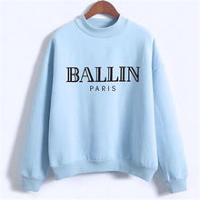 BALLIN PARIS Hoodies sweatshirts For Women letter jumpers moletom feminino female High Street oversized hoody NSW-F10990