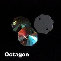 אבנים לתפור על קריסטל ab ריינסטון אוקטגון זכוכית מהודרת עבור אביזרי בגדי diy 8 מ