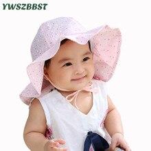 New Spring Summer Baby Sun Hat Girls Sun Cap Flowers Fisherman Hat Baby Bucket Cap Sunscreen Big Brim Toddler Cap