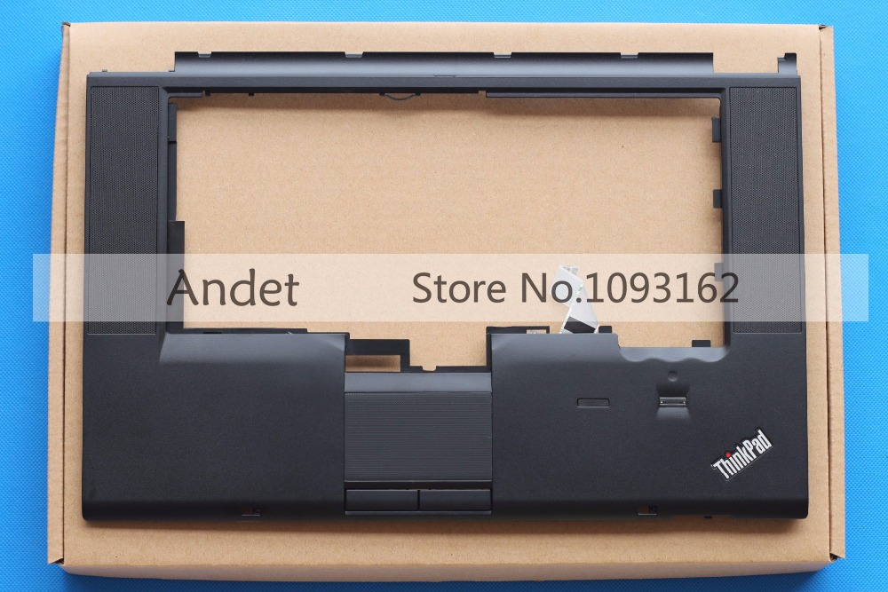 New Original for Lenovo Thinkpad T520 T520I W520 Palmrest Cover Keyboard Bezel with FP NO CS 04W1368 04W0606 04X3737 genuine new for lenovo thinkpad x1 helix 2nd 20cg 20ch ultrabook pro keyboard us layout backlit palmrest cover big enter