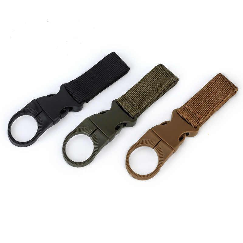 FRALU جديد الرجال قماش مشبك ملون حلقة رئيسية العسكرية النايلون زجاجة المياه معلقة مشبك مستديرة الشكل لصق حزام الرجال