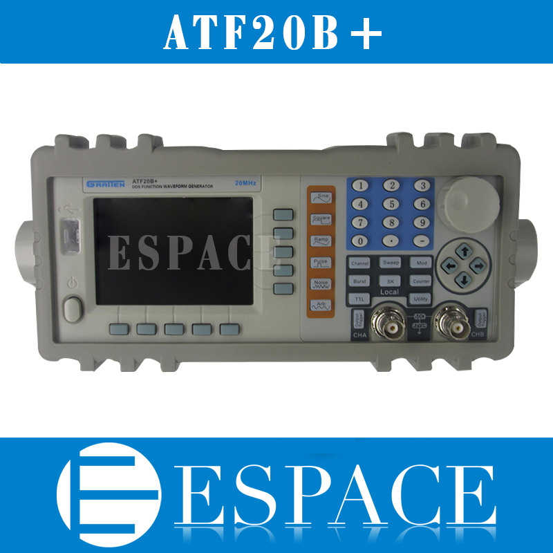 ATTEN ATF20B DDS FUNCTION GENERATOR 20MHZ 100MSa s110 220V with Power Amplifier MAX output power up