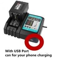 高品質 DC18RC バッテリー充電器 7.2 v-18 v フィット用ツールでリチウムイオンバッテリー eu プラグ usb ポート電話