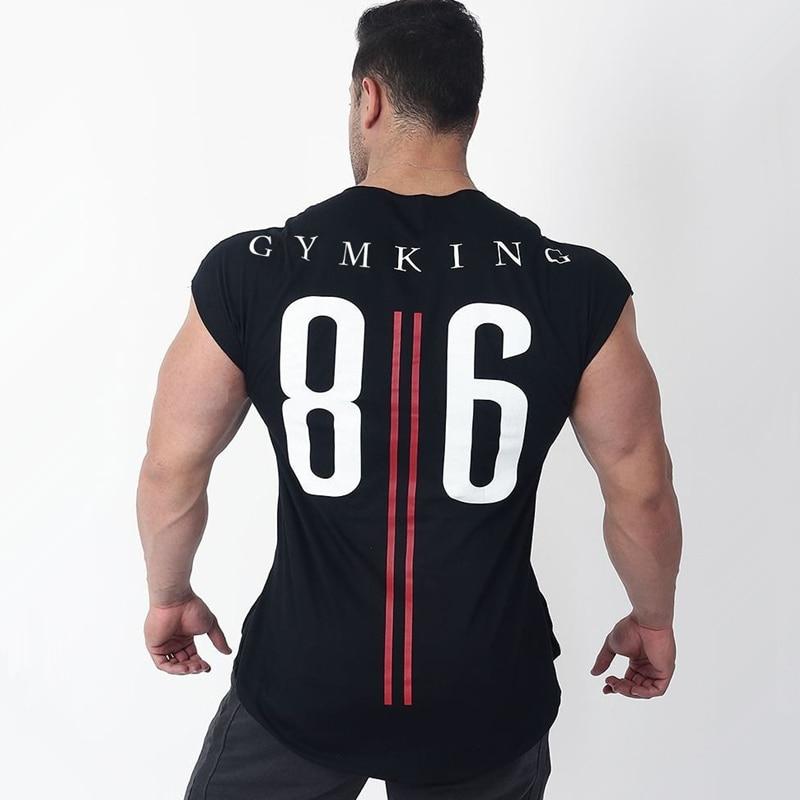 Mens Summer Run Jogging Sports Cotton T-shirt Man Gym Fitness Bodybuilding t shirt Male Workout Training Tee Tops Brand Clothing 1