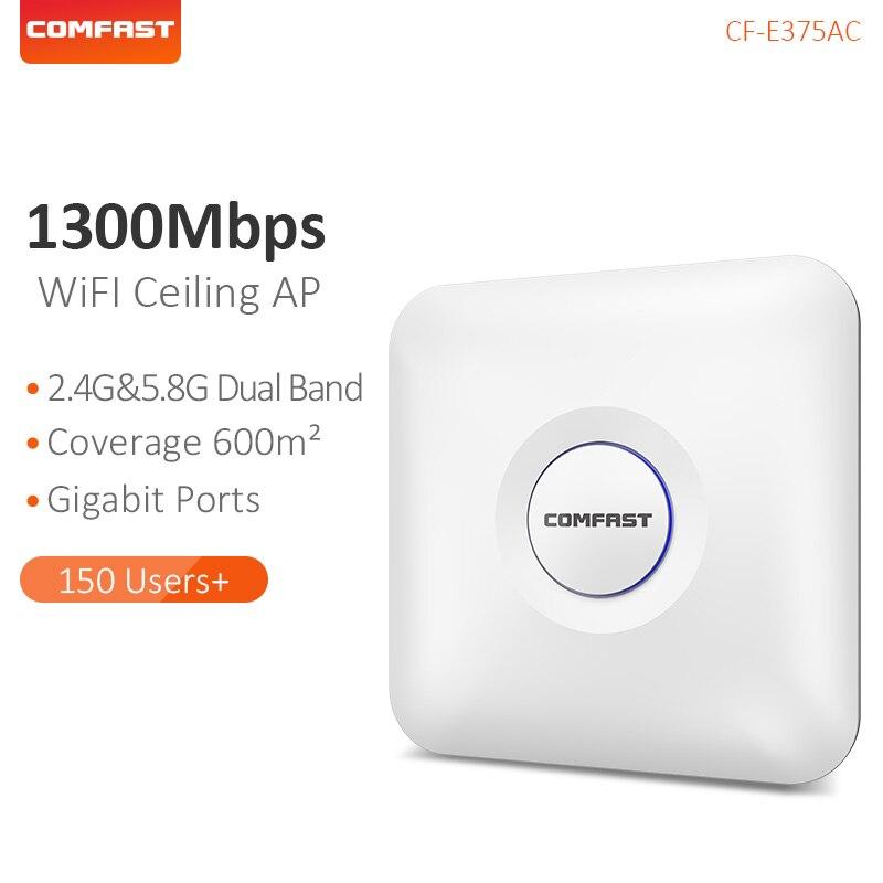 COMFAST CF Soffitto Wireless AP 1300 Mbps 802.11AC Dual Band 2.4G + 5G Wifi Router AP Coperta Per Il Grande area di copertura di Accesso CF E375AC-in Router wireless da Computer e ufficio su  Gruppo 1