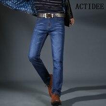 ACTIDEE 2017 Новый дизайн Весна Известная Марка Мужчин Slim Прямые Джинсы Мужские Длинные Брюки джинсовые Брюки