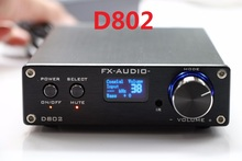 2017 FX-Audio D802 HiFi Full Digital Audio Verstärker Eingang USB/Koaxial/Optische 24Bit/192 KHz 80 Watt + 80 Watt Oled-display Oled-display