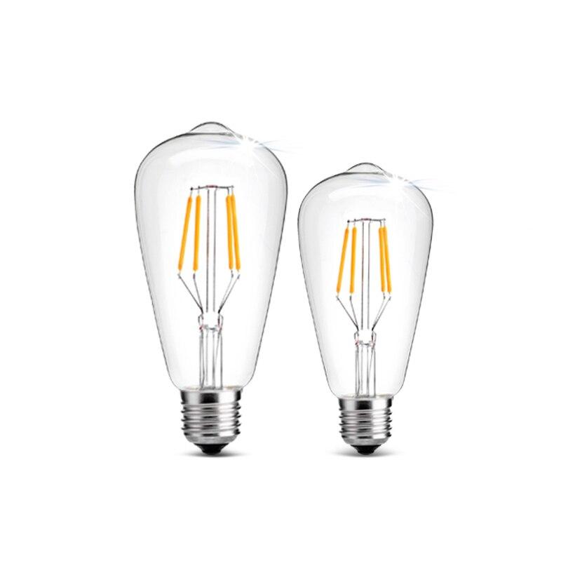 E27 Retro Vintage LED Edison Bulb E14 Filament Lamp 220V High Power Glass Bulb Lamp Epistar 2W 4W 6W 8W Candle Light Lamp