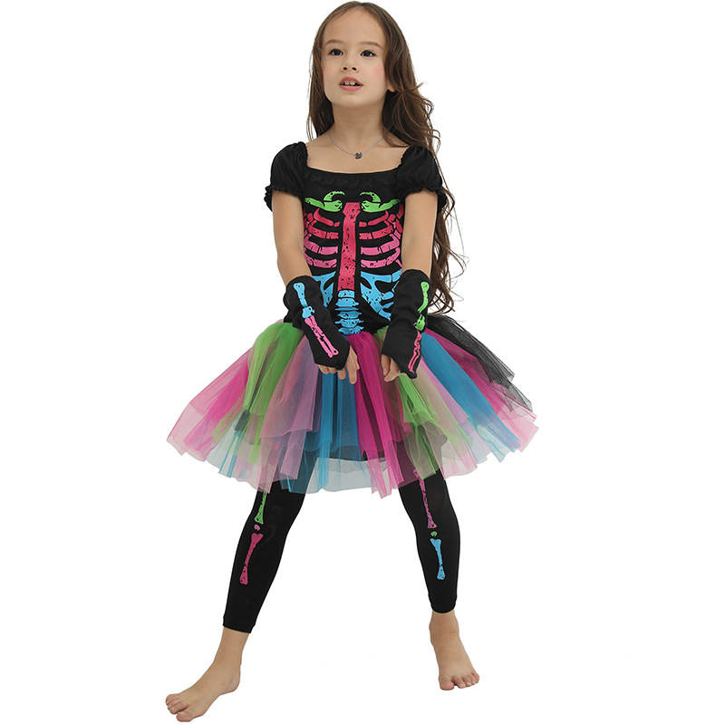 Halloween Costumes For Kids Scary.Us 19 04 35 Off Scary Skeleton Halloween Costume For Kids Witch Animal Princess Girl Children Child Scary Clown Costumes Kid Fancy Dress Party In