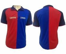 100 год, классическая версия рубашки, синий, красный, два цвета, футболка с короткими рукавами, летняя спортивная футболка с короткими рукавами