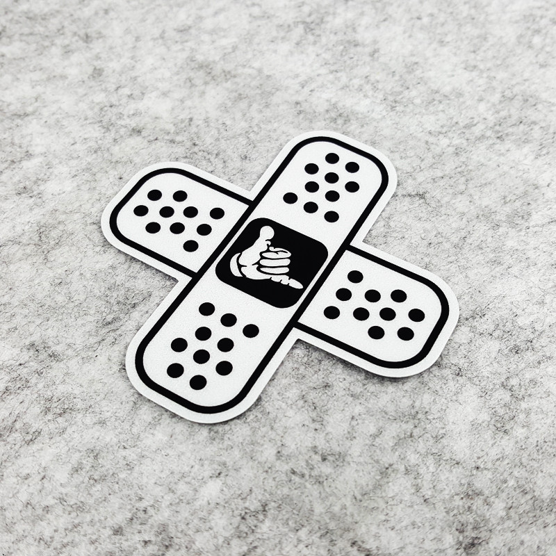 2PCS Cool Motorcycle Decals Shocker Sun Band Aid