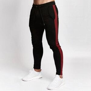 Image 2 - Mens Joggers Casual Pants Fitness Men Sportswear Tracksuit Bottoms Skinny Sweatpants Trousers Black Gyms Jogger Track Pants
