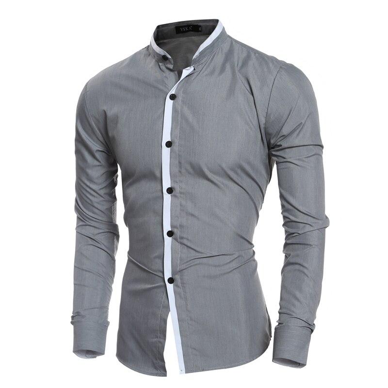 Aliexpress.com : Buy New Fashion Contrast Color Collar Men Shirt ...