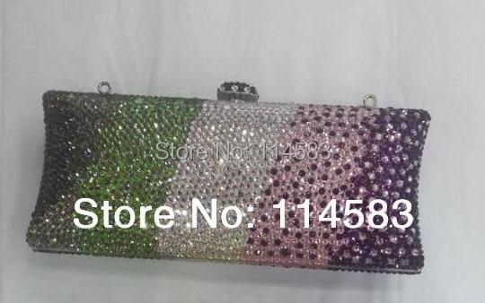 ФОТО S7735TA Crystal lady fashion Bridal Metal Evening purse clutch bag case handbag