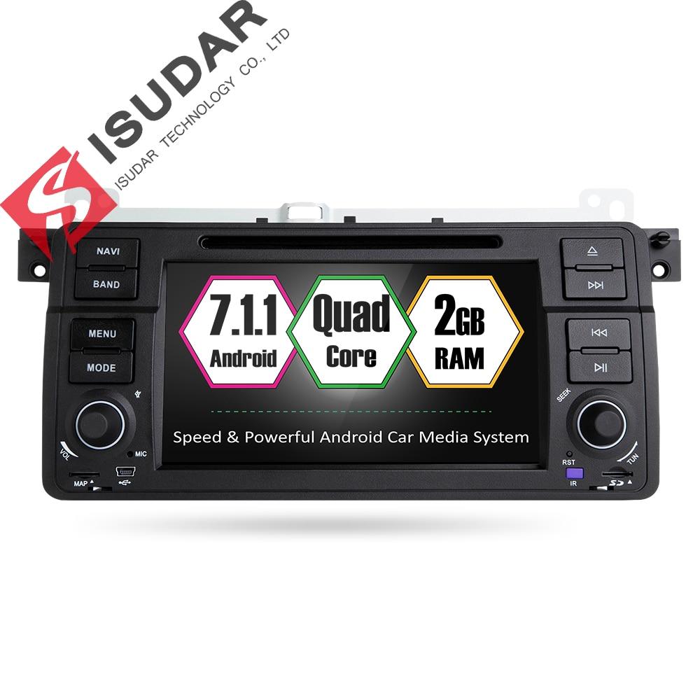 Isudar Car Multimedia player Android 7.1.1 GPS 1 Din Autoradio Car Radio Player OBD2 For BMW/E46/M3/MG/ZT/Rover 75 Wifi Radio FM