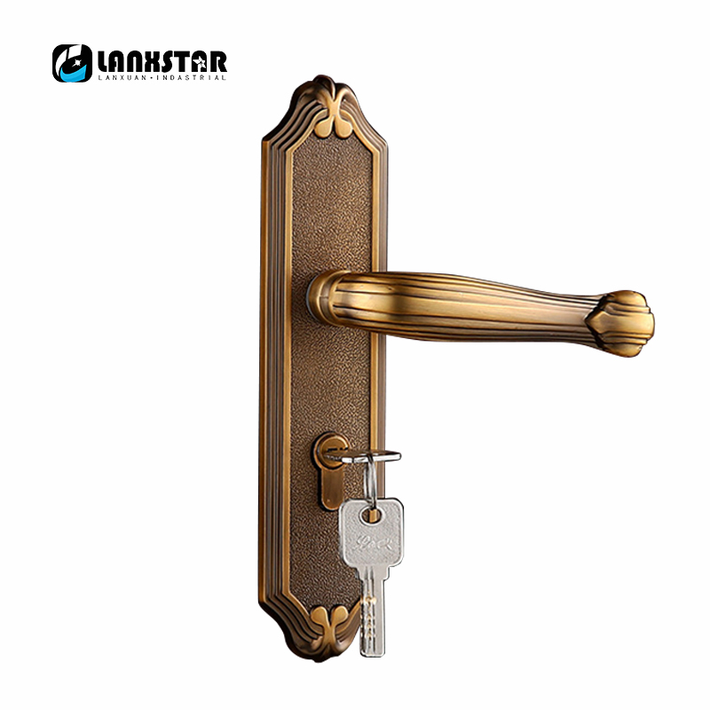 European Style Wooden Door Selling Recommended Zinc Alloy Handle Lock Exquisite Appearance and Quality Assurance Mute Locks european jade inset indoor wood door lock ivory white bedroom mute door handle locks high grade zinc alloy duty room handle lock
