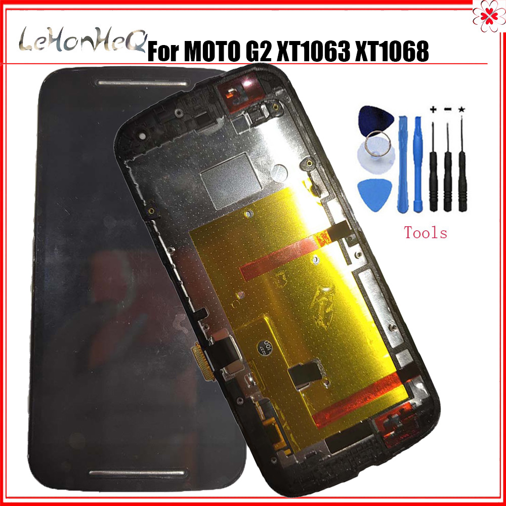 Test LCD For <font><b>Motorola</b></font> MOTO G2 G+1 XT1063 <font><b>XT1068</b></font> LCD <font><b>Display</b></font> Touch screen Digitizer Assembly For MOTO G 2nd XT1069 LCD image