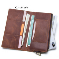 Luxury men wallets Card holder Leather male Wallet luxury Long Design Quality passport cover Fashion Casual Mens Purse Zipper