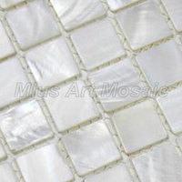 Mius Art Mosaic Pure White Shell Art Mosaic Tile Puzzle For Shower Wall Decoration A4BK04