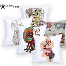Animal Cushion covers Colorful Outdoor Decorative Custom Polyester Cover cushion Snake Pillowcase Home Decor Cushions