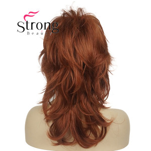 """Image 4 - StrongBeauty 16"""" Long Blonde Fluffy Shag PermaTeased Full synthetic Wig Wigs COLOUR CHOICES"""