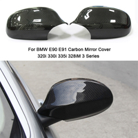 For BMW E90 E92 Carbon Mirror Cover 320i 330i 335i 328iM E91 E93 Rear side view caps Mirror cover 2005 2008 2009 2010 2011 2012
