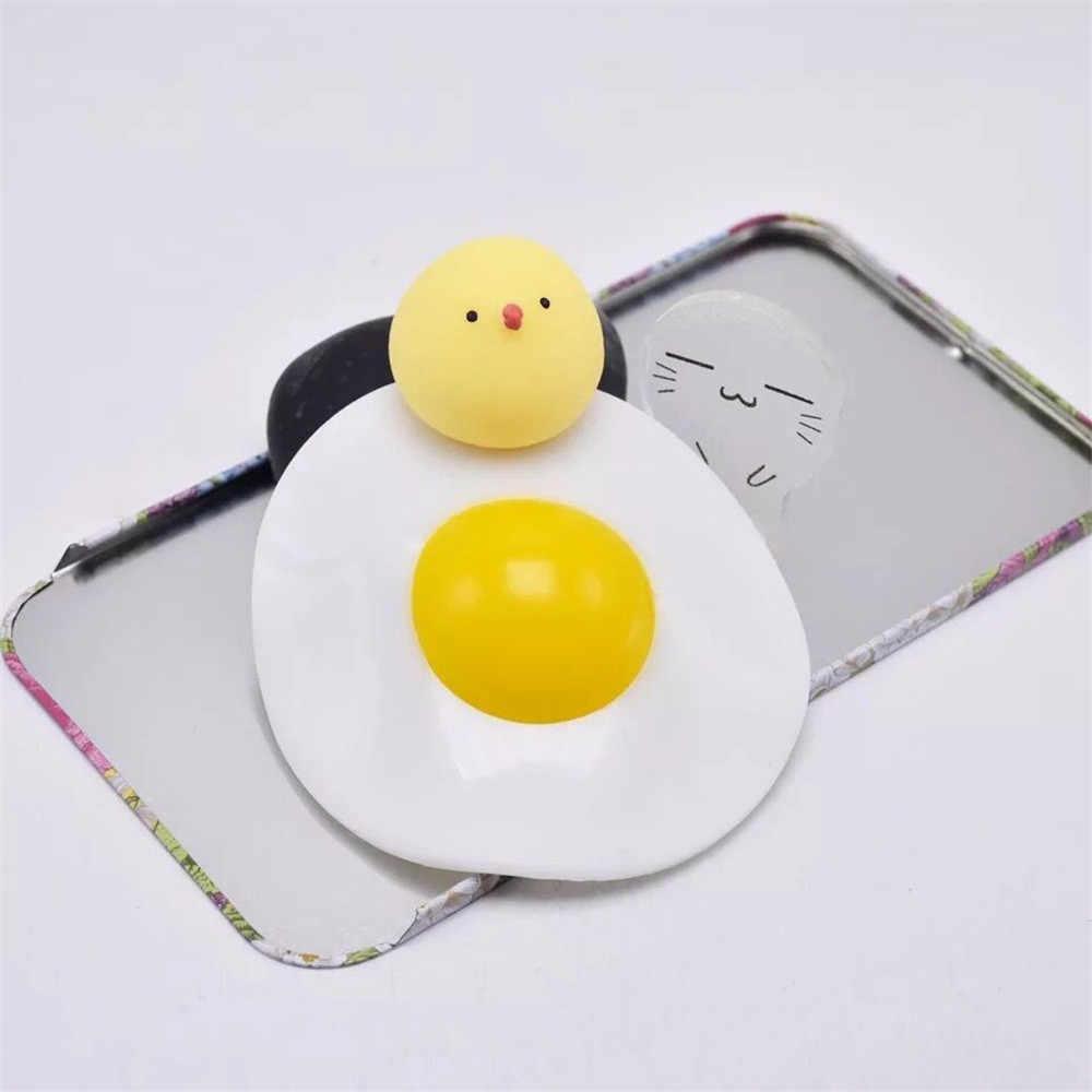 Irmão Desafogar Ovo de Gema de ovo Pacote Inteiro Tricky Estranho Beliscar Brinquedos Descompressão Creme Perfumado, Soft Squeeze Stress Relief