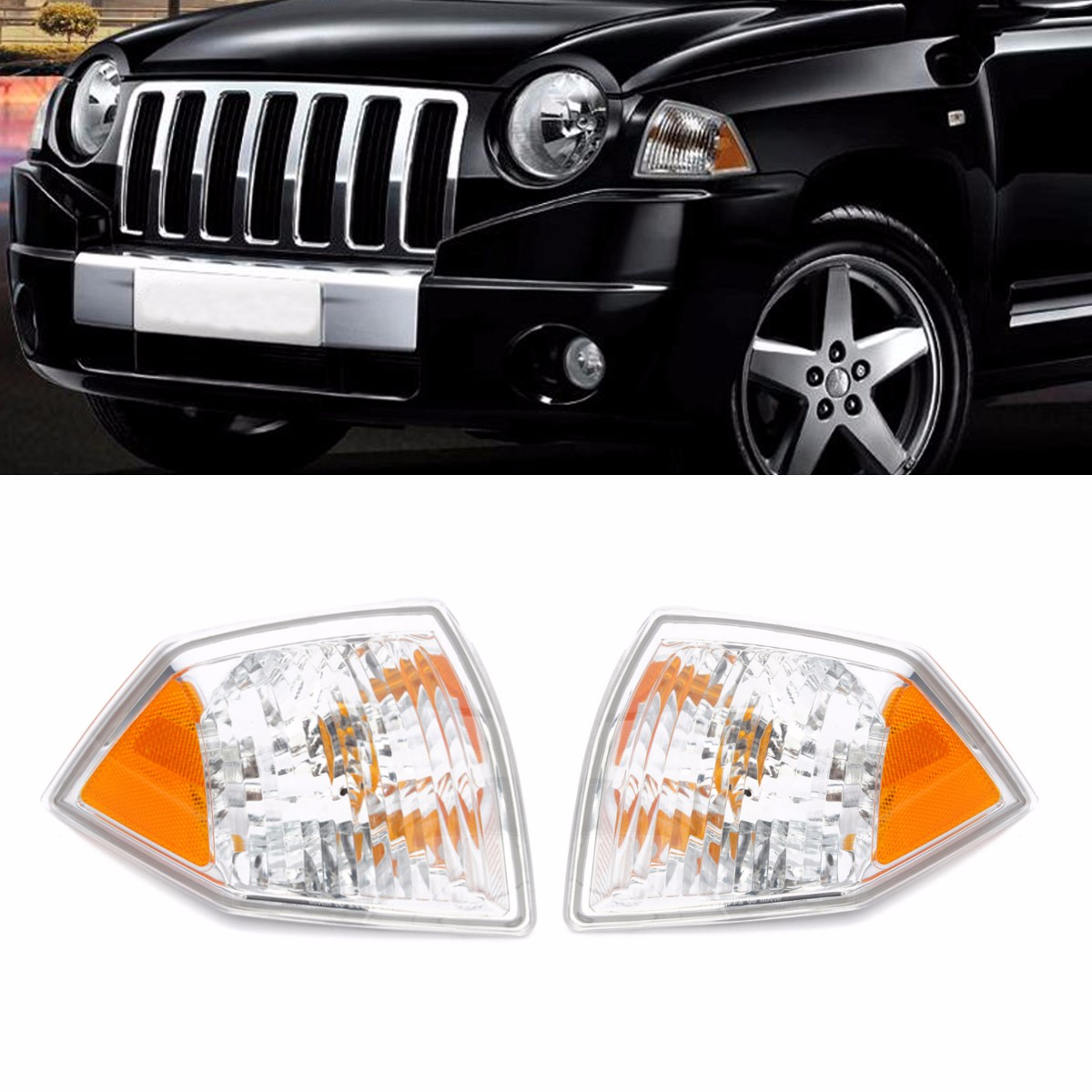 Front Left Right Side Marker Parking Turn Signal Corner Light Without Bulbs For Jeep For Compass 2007 2008 2009 2010 CH2520144