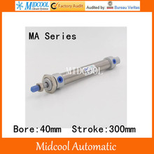 Mini air cylinder MA40-300 stainless steel bore 40mm stroke 300mm double acting small pneumatic cylinder