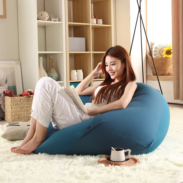 Marvelous Japanese Style Minimalist Single Person Washable Lazy Sofa Beanbag  Removable Bedroom Bed