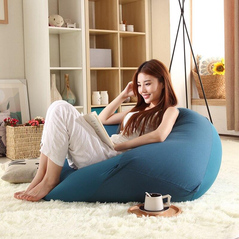 Galleria fotografica Stile giapponese minimalista singola persona lavabile pigro divano beanbag rimovibile camera da letto