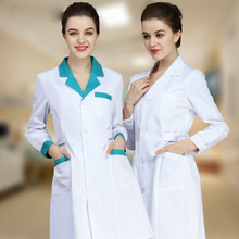 Winter White coat nurse clothing long-sleeve Hospital work wear lab doctor Medical Design Breathable uniforms