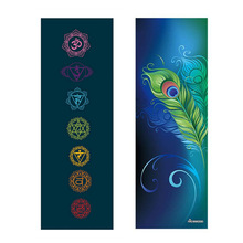 New Printed Yoga Towel 185 * 68cm Non Slip Portable Фитнес Pilates тренажер залы Exercise Towel Йога Mat Soil Yoga Mat Cover Soft Blanket