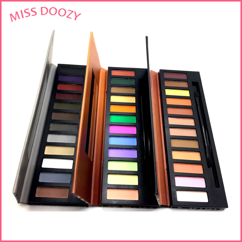 MISS DOOZY Eyeshadow 12 Color Shadow Pallete Glitter Balm